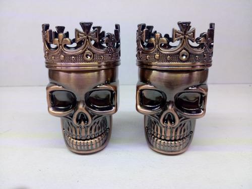 grinder para tabaco cráneo corona aluminio precio de 6pzs