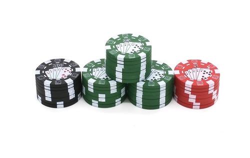 grinder trillador rascador tipo ficha de poker - tenemos más