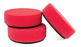 Griots Garage 11281-3PK Red 4 Foam Waxing Pad, Pack of 3