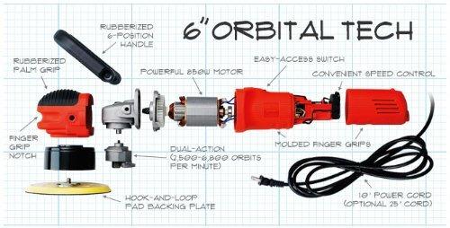 griot's garaje 10813lngcrd pulidora orbital aleatorio dual a