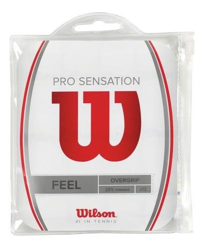 grip unisex wilson - pro overgrip sensation 12pk blanco - te