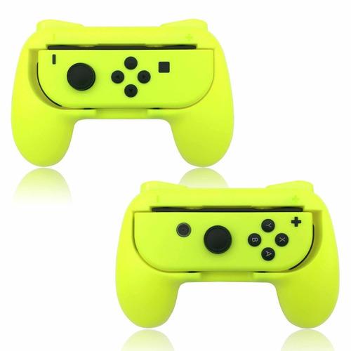 gripsnintendo switch joy-con resistente al desgaste amarillo