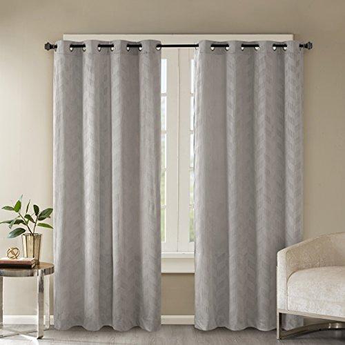Gris cortinas ojal para sala de estar moderno y contempor for Cortinas para sala de estar
