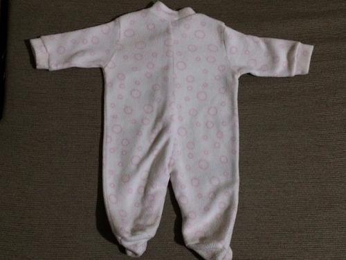 grisino enterito plush nena bebe 0 a 3 m manga larga