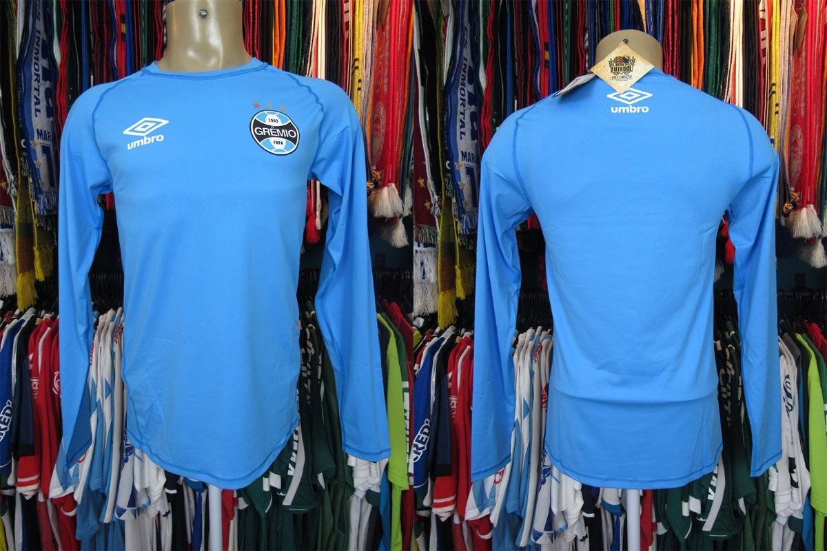 a0e03fa9af grêmio 2017 camisa térmica azul tamanho gg mangas longas. Carregando zoom.