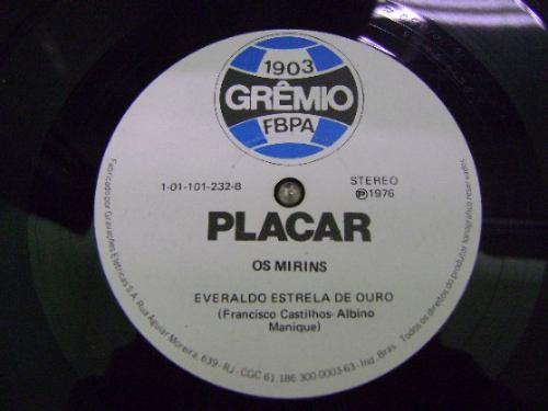 grêmio f b p a compacto vinil hino do gremio - placar - 1976