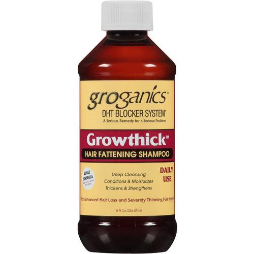 groganics growthick cabello de engorde de champú 8 oz