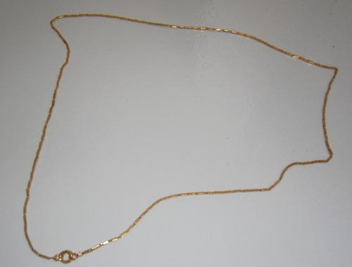 grosso cordão de ouro 18k  14 gramas, maciço  45cm