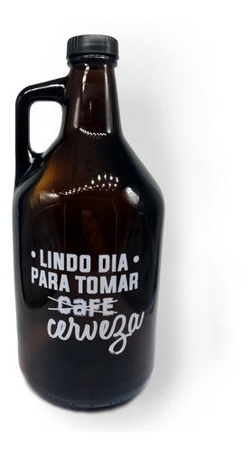 growler, botellon para cerveza    lindo dia