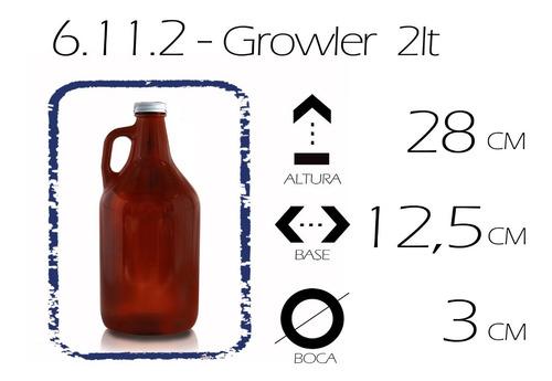 growler cerveza 2lt. tapa metalica