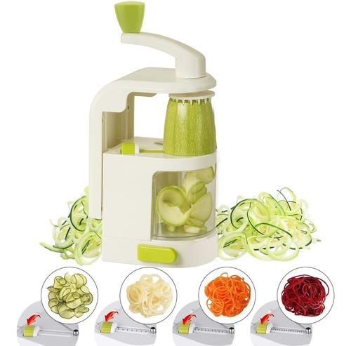 growneer cortador verduras en espiral 4 cuchillas en 1 corta