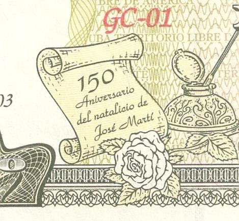 grr-billete de cuba 1 peso 2003 - conmemorativo!!!
