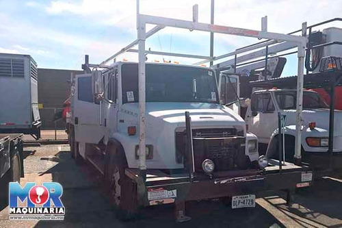 grua 7.5 tons palfinger articulada, camion 2003, tipo hiab
