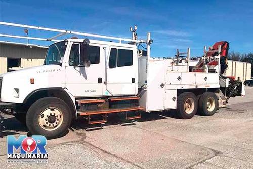 grua articulada 7.5 tons 2003, camion freightliner nacional