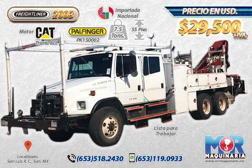 grua articulada 7.5 tons palfinger, camion 2003, gruas hiab