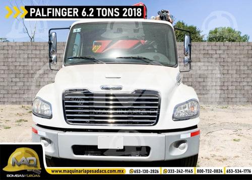 grua articulada freightliner - palfinger 6.2 tons 2018