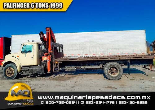 grua articulada hiab - palfinger 1999 6 tons