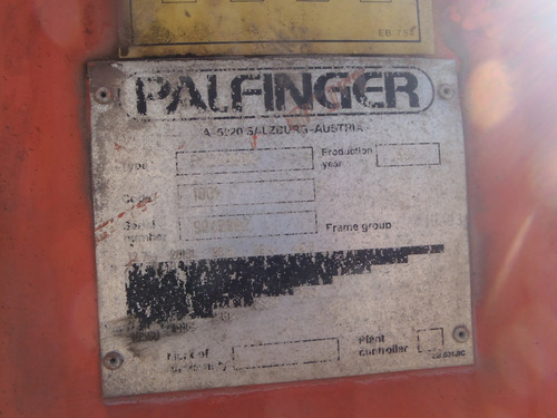 grúa articulada hiab  palfinger 7,400 toneladas folio 6978