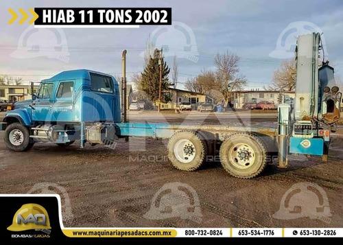 grua articulada international - hiab 11 tons 2002