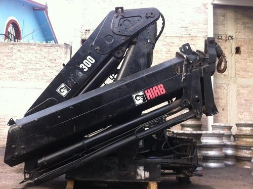 grua articulada marca hiab modelo 300 cap 12 ton sin camion