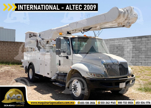 grua canastilla international - altec 2009