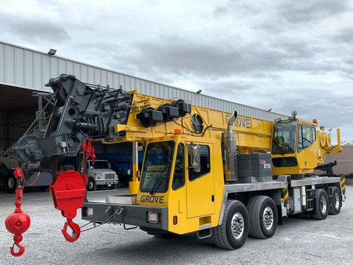 grua certificada grove tms-875c de 75 ton toneladas