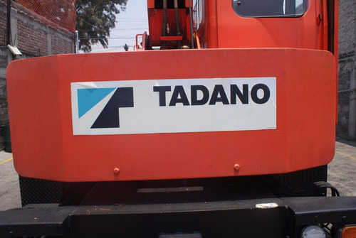 grua chata tadano ts80 8 toneladas, placas federales