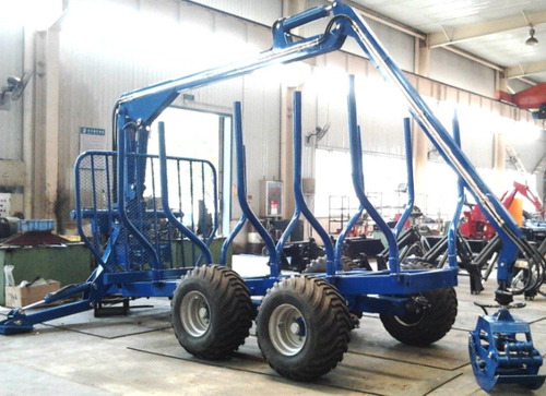 grúa forestal con trailer transporte troncos (10 cuotas!!)