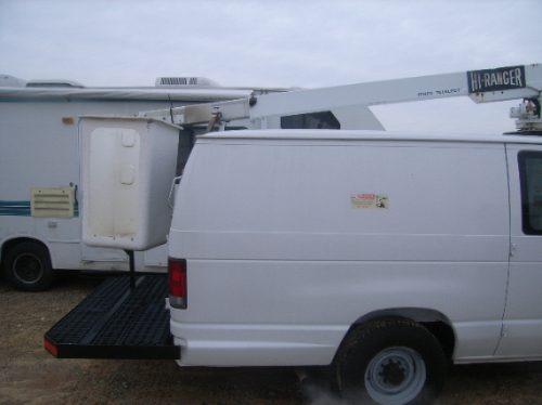 grua hidraulica con canastilla ford econoline e350 equipada