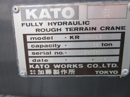 grúa kato 10 toneladas, hidráulica industrial todo terreno