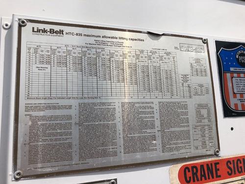 grua link belt htc835 de 35 toneladas mod. 1991