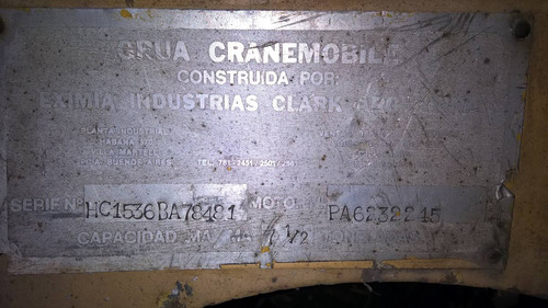 grua movil clark 7,5 tns ,cranemovil original unica mano