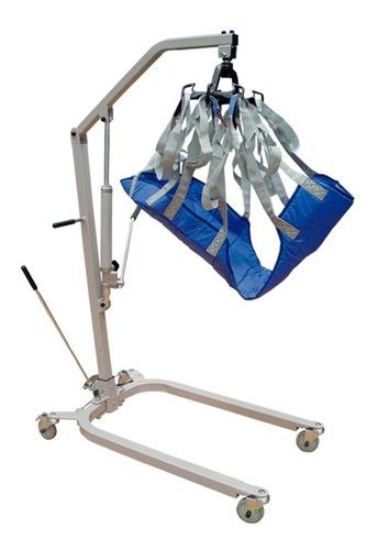 grua para pacientes, hidráulica con arnés, soporta 180kg