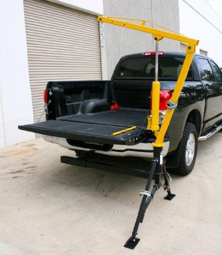 grúa para platon de camioneta con capacidad de 1000 lbs.
