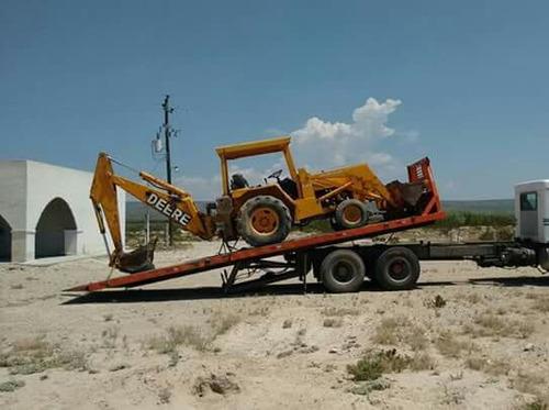 grua / rampa hidráulica para traslado de maquinaria pesada