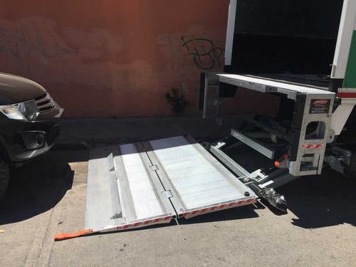 grua - rampa hidraulica tarimas camion pesado