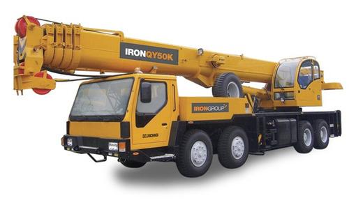 grua sobre camión iron qy50