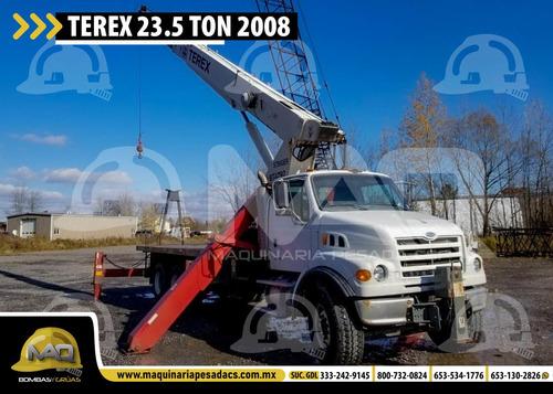grua sterling - terex 23.5 tons 2008