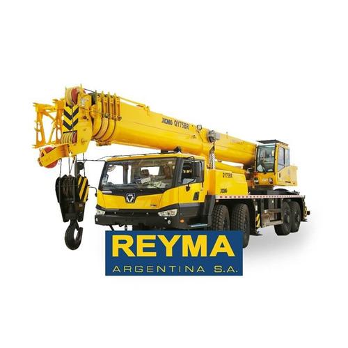 grua telescopica sobre camion qy75br