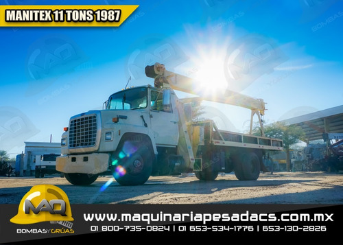 grua titan 11 toneladas ford - manitex 1987