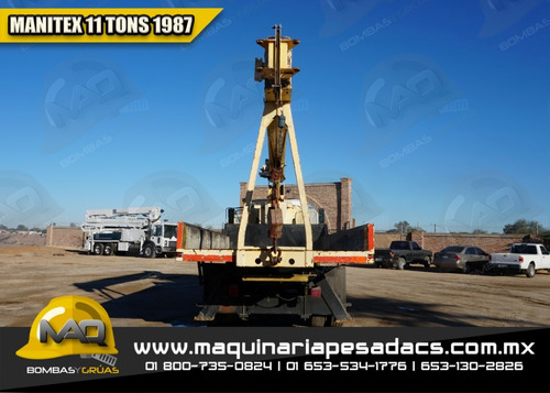 grua titan 11 tons 1987 ford - manitex
