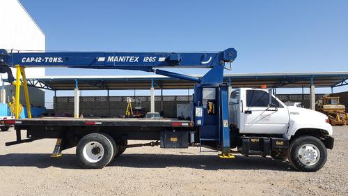 grua titan 12 tons sobre camion