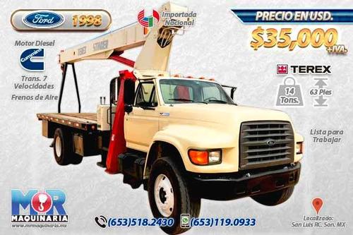 grua titan 14 tons terex 1998, camion ford nacional