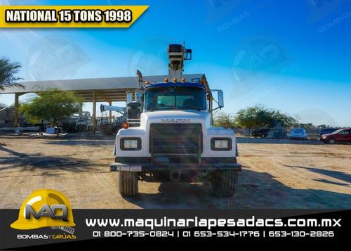 grua titan 15 toneladas mack - national 1998