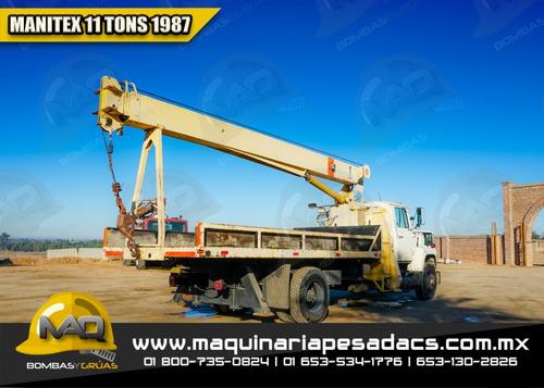grua titan 1987 ford - manitex 11 tons