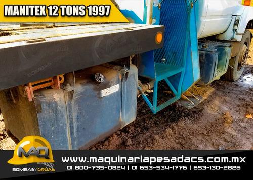 grua titan 1997 gmc - manitex 12 toneladas
