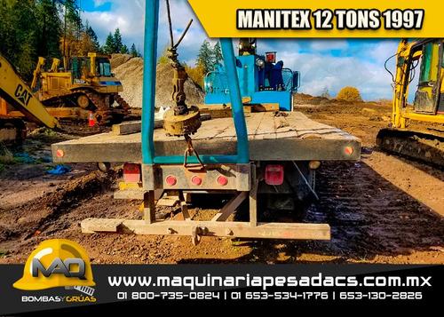 grua titan 1997 gmc - manitex 12 tons