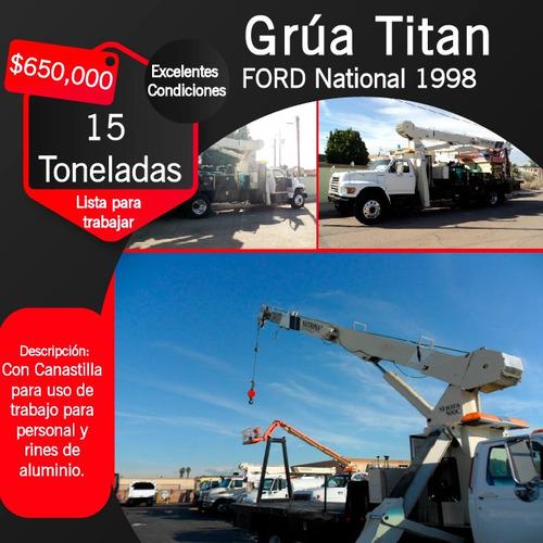 grúa titan 1998 ford 15 toneladas