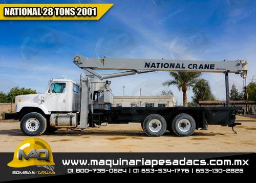 grua titan 28 toneladas international - national 2001