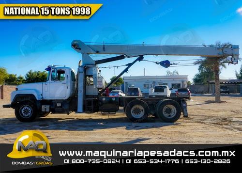 grua titan mack - 1998 15 tons national